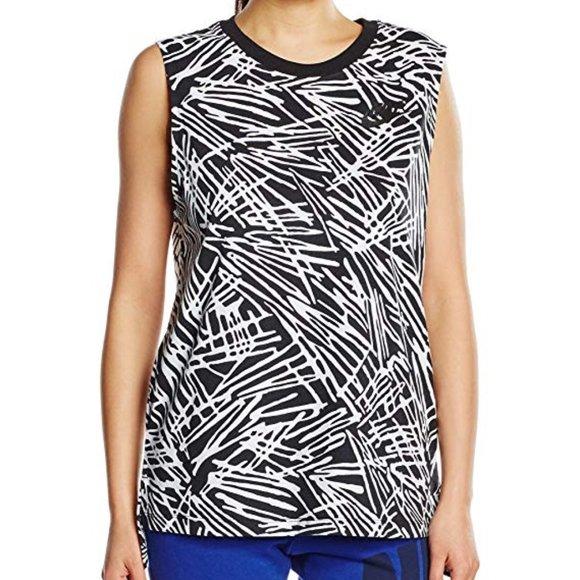 NIKE Zebra 739960 BLACK / WHITE Muscle Tank Top
